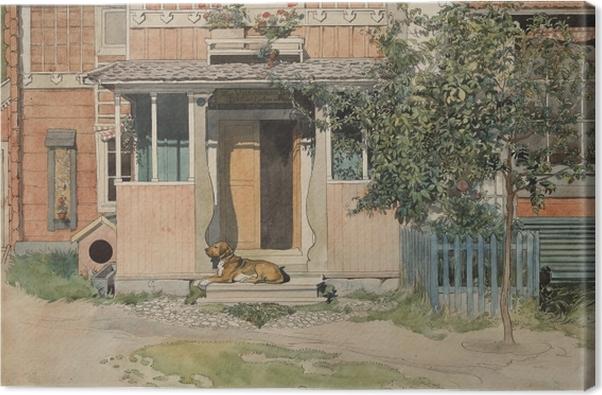 Carl Larsson - The Veranda Canvas Print - Reproductions