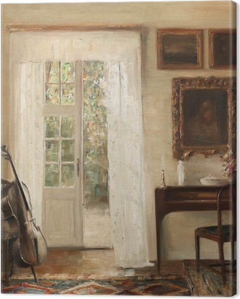 Carl Vilhelm Holsøe - Interior with a Cello Canvas Print - Reproductions