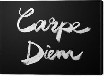 Carpe diem. Handwritten quote Canvas Print