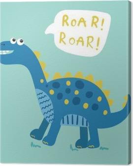 cartoon dinosaur vector illustration Canvas Print
