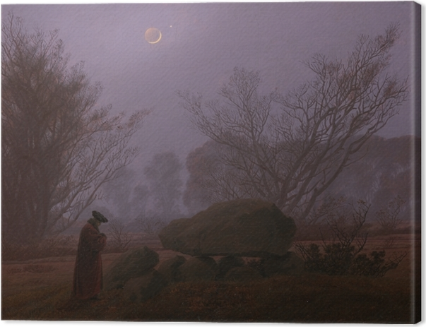 Caspar David Friedrich - A Walk at Dusk Canvas Print - Reproductions