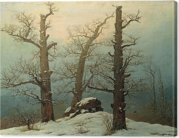 Caspar David Friedrich - Cairn in Snow Canvas Print - Reproductions