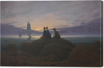 Caspar David Friedrich - Moonrise Over the Sea II Canvas Print