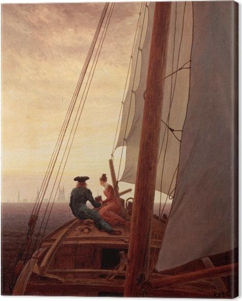 Caspar David Friedrich - On a Sailing Ship Canvas Print - Reproductions