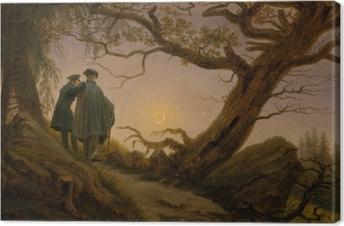 Caspar David Friedrich - Two men contemplating the Moon Canvas Print