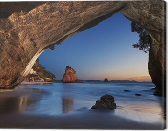 Cathedral Cove, New Zealand Canvas Print