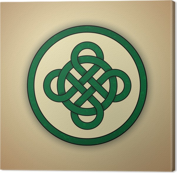 Celtic Knot Symbol Of Luck Canvas Print Pixers We Live To Change