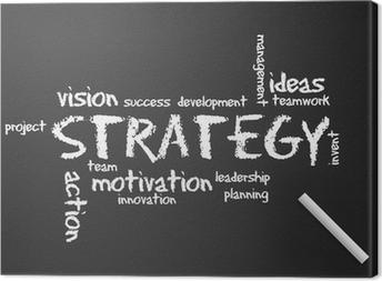 Chalkboard - Strategy Canvas Print