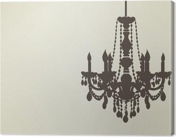 chandelier sillhouette EPS10 Canvas Print