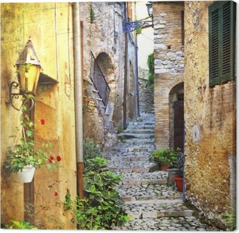 charming old streets of mediterranean Canvas Print