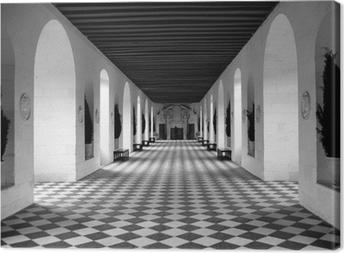 checkerboard floor Canvas Print
