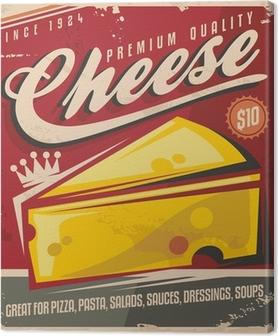 Cheese retro poster design Canvas Print