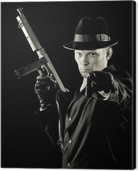 chicago gangster. armed and special dangerous Canvas Print