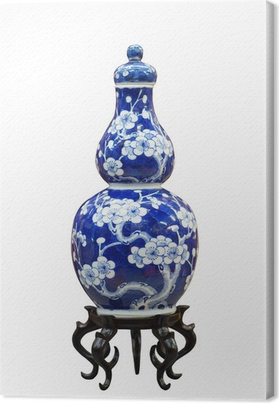 Chinese Antique Blue And White Vase Canvas Print Pixers We Live