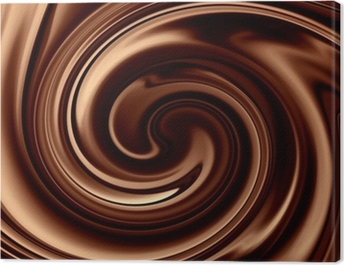 Chocolate background Canvas Print