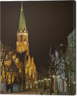 Church in Sopot, Poland. Canvas Print