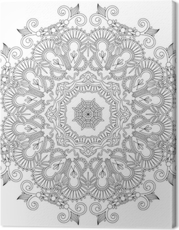 Circle ornament, ornamental round lace Canvas Print