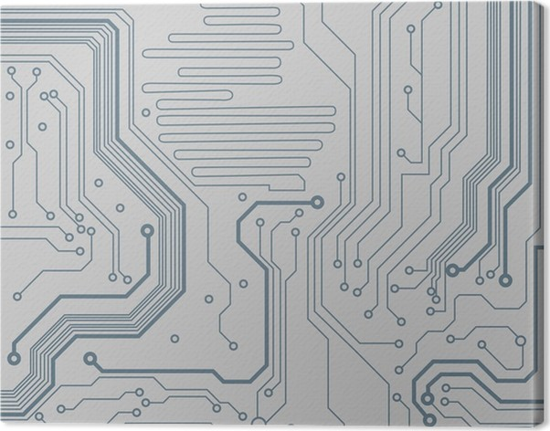 circuit board pattern. vector background Canvas Print • Pixers® • We ...