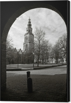 Cityscape of Groningen with the Martini tower Canvas Print