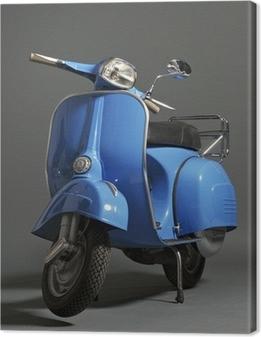 Classic italian scooter Canvas Print