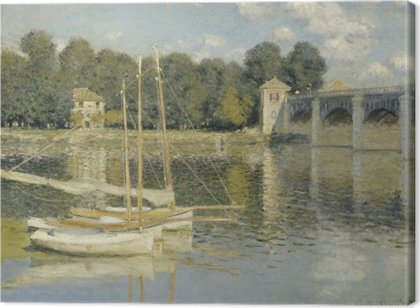 Claude Monet - Bridge at Argenteuil Canvas Print - Reproductions