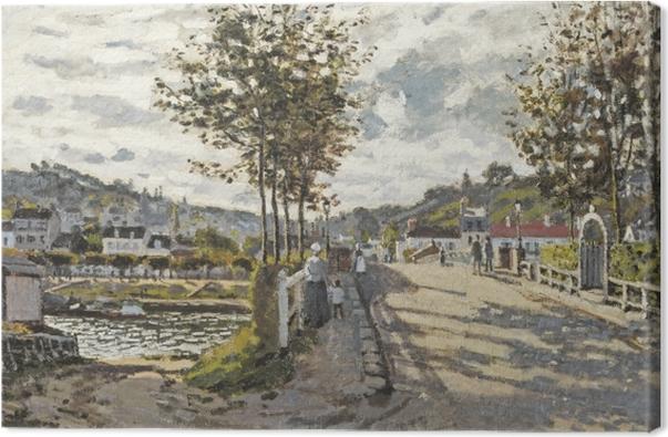 Claude Monet - Bridge in Bougival Canvas Print - Reproductions