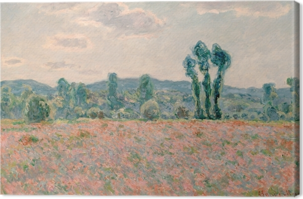 Claude Monet - Field with Poppies Canvas Print - Reproductions