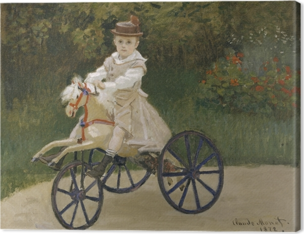 Claude Monet - Jean Monet on His Hobby Horse Canvas Print - Reproductions