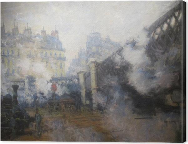 Claude Monet - Le Pont de l'Europe Canvas Print - Reproductions
