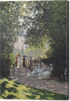Claude Monet - Parc Monceau Canvas Print