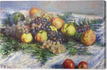 Claude Monet - Pears and Grapes. Still LIfe with Fruits Canvas Print