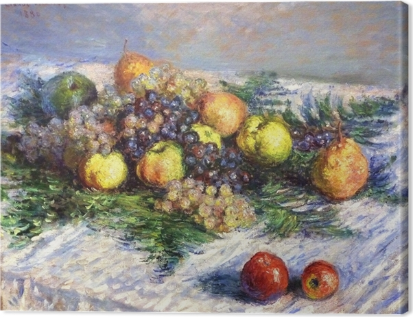 Claude Monet - Pears and Grapes. Still LIfe with Fruits Canvas Print - Reproductions