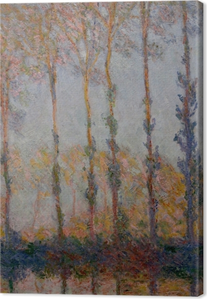 Claude Monet - Poplars on the Banks of the Epte Canvas Print - Reproductions