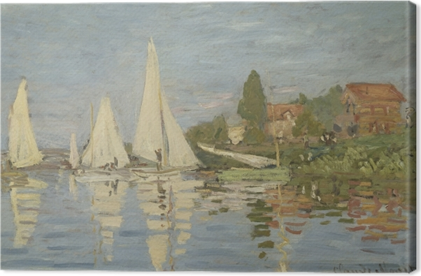 Claude Monet - Regatta at Argenteuil Canvas Print - Reproductions