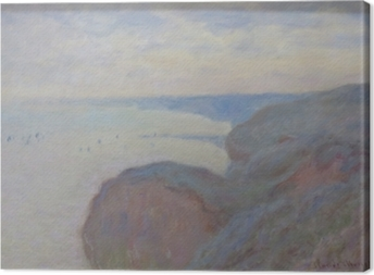 Claude Monet - Steef Cliffs near Dieppe Canvas Print