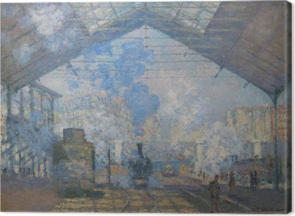Claude Monet - The Gare St. Lazare Canvas Print - Reproductions