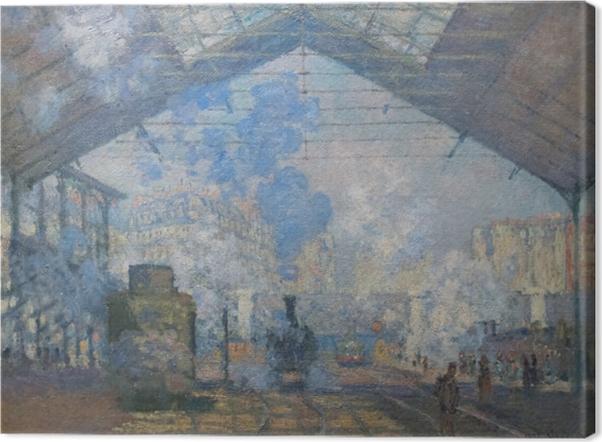 Claude Monet - The Gare St. Lazare Canvas Print - Reproductions