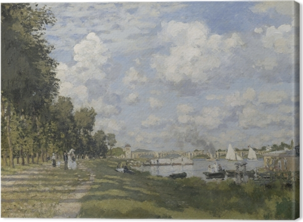 Claude Monet - The Marina at Argenteuil Canvas Print - Reproductions