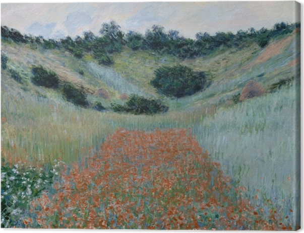 Claude Monet - The Poppy Field near Giverny Canvas Print - Reproductions