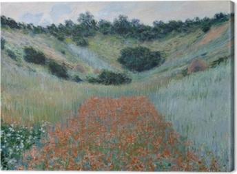 Claude Monet - The Poppy Field near Giverny Canvas Print