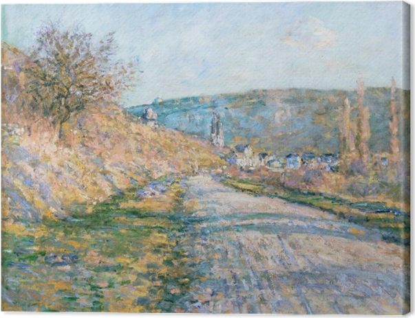 Claude Monet - The Road to Vetheuil Canvas Print - Reproductions