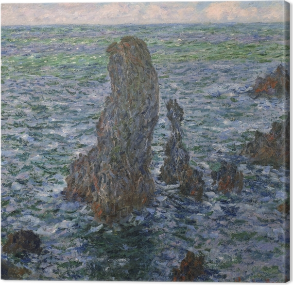 Claude Monet - The Rocks at Belle Ile Canvas Print - Reproductions