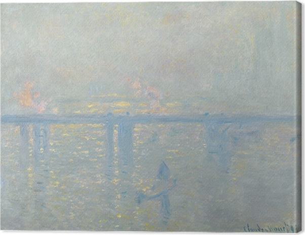 Claude Monet - The Thames at Charing Cross Canvas Print - Reproductions