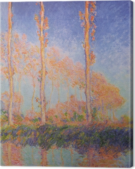 Claude Monet - The Three Poplars in Autumn Canvas Print - Reproductions