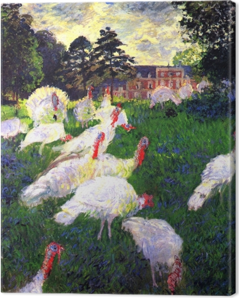 Claude Monet - The Turkeys at Chateau de Rottembourg Canvas Print - Reproductions