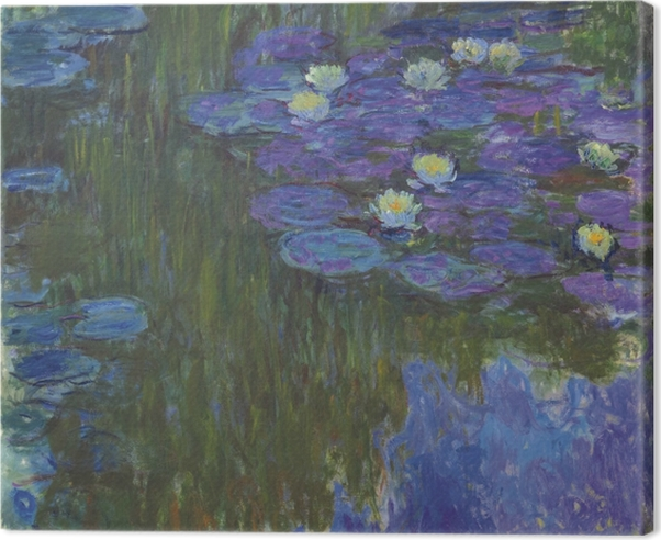Claude Monet - Water Lilies Canvas Print - Reproductions