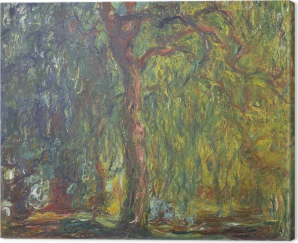 Claude Monet - Weeping Willow Canvas Print - Reproductions
