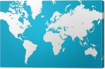 Clear world map sticker pixers we live to change clear world map canvas print gumiabroncs Choice Image