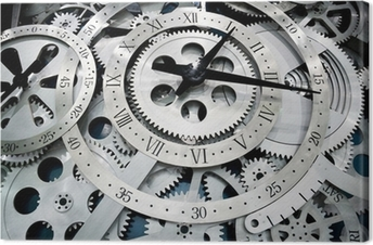 clock and gears Canvas Print