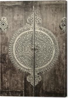 close-up image of ancient doors Canvas Print